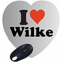 """Exklusive Geschenkidee: Herz Mauspad """"I Love Wilke"""" eine tolle Geschenkidee die von Herzen kommt- Rutschfestes Mousepad- Weihnachts Geschenktipp"""