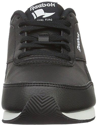 Reebok Royal CL Jog 2L, Chaussures de Running Entrainement Garçon Noir / blanc / gris mat (noir / blanc / gris mat)