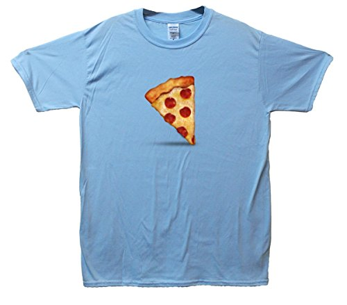 Pizza Emoji T-Shirt Hellblau