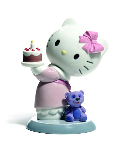 Nao Porcelain by Lladro HAPPY BIRTHDAY! HELLO KITTY COLLECTION 2001695