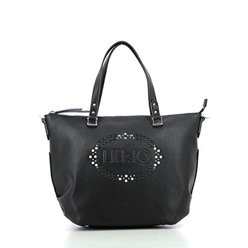 Liu Jo Logo Lucciola Shooping Bag shaded black Black