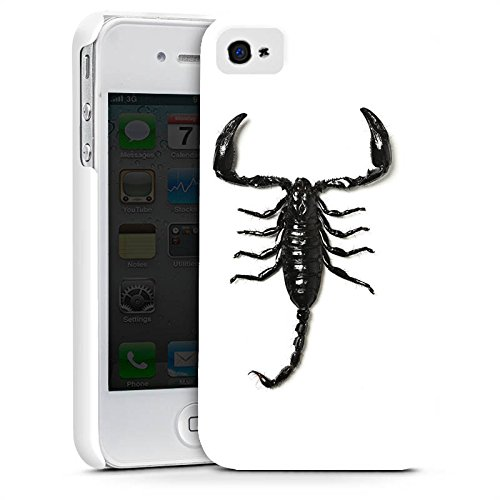 Apple iPhone X Silikon Hülle Case Schutzhülle Skorpion Scorpion Schwarz Premium Case glänzend