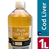 OURONS 1 litro de Aceite de hígado de Bacalao Puro Líquido 100% suplemento de Dieta para Animales