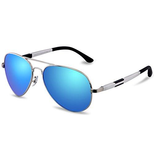Duco occhiali da sole polarizzati da pilot da uomo da donna per pesca sportiva da esterno golf 3026