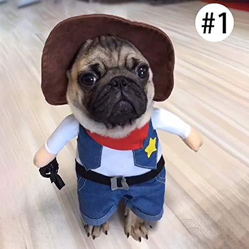 3CLifewaren Haustier Kostüm Lustig Hund Katzen Pet Kleidung Anzug Corsair Dressing Up Party Bekleidung Kleidung für Hunde Katze mit Hut