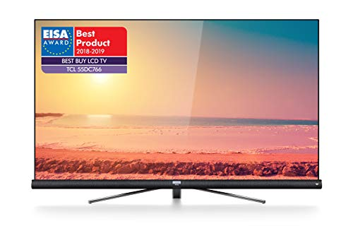TCL 55DC766 Fernseher 139 cm (55 Zoll) Smart TV (4K UHD, HDR, Wide Color Gamut, Andoid TV, Google Home, Google Assistant, JBL by Harmon Kardon) Brushed Titanium