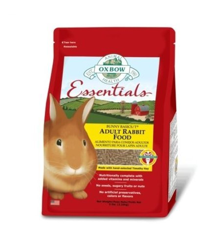 Oxbow Essentials Bunny Basic T Adult Rabbit Food 2,25 kg - Mangime in pellet a base di fieno per conigli domestici adulti