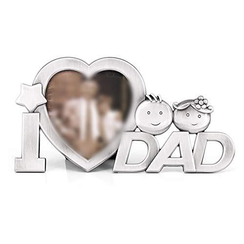 Ruiting i love dad photo frame per il regalo di compleanno giorno home decor metallo cornice di papà nonno creativo padre