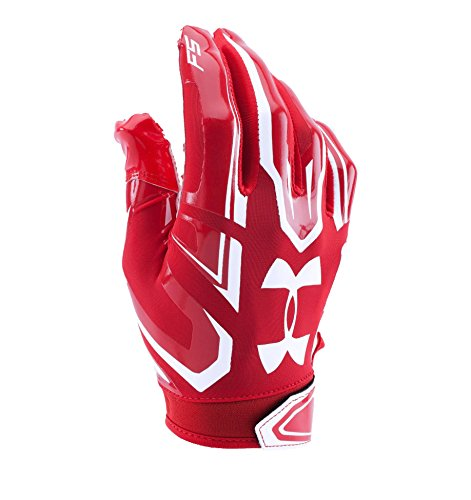 Under Armour F5 American Football Receiver Handschuhe - rot Gr. S