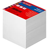 Herlitz Note Block, Unlined, with cover, 900 Sheets 9 x 9 cm Pack of 1, White 900 Blatt white