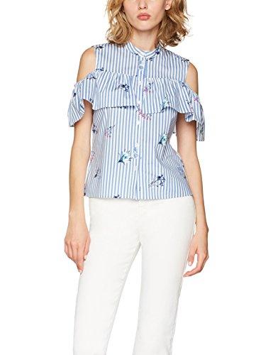 find-cold-shoulder-ruffle-blouse-femme-bleu-blue-stripe-floral-small