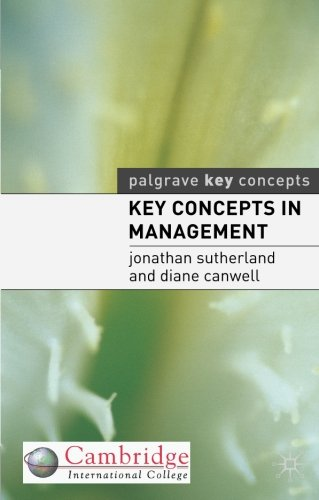 Key Concepts in Management PDF Books