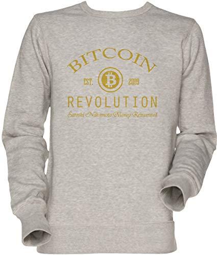Vendax Bitcoin Revolution Unisex Herren Damen Jumper Sweatshirt Grau Men's Women's Jumper Grey Revolution Womens Sweatshirt