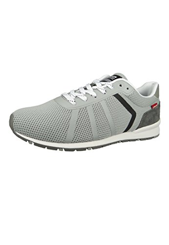 Levi's Levis 227799-756-54 Herren Sneaker Schuhe Almayer Grau Light Grey, Groesse:43 EU/9 UK/10 US