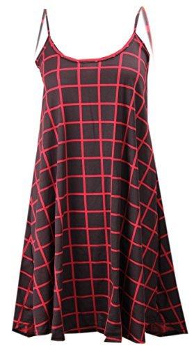 CELEB LOOK -  Vestito  - Donna RED CHECK PRINT
