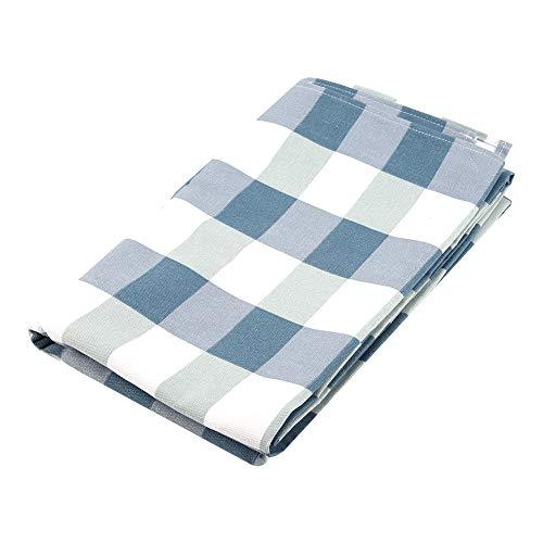 Duokon Rechteck Tischdecke Baumwolle Leinen Tischdecke für Küche Esstisch Leinen Dekor(140x180cm 55x71inch-blau) (Küche Rechteck Tischdecke)