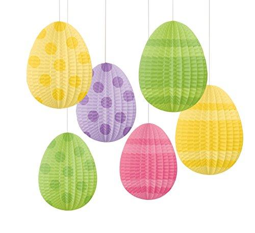 Amscan a forma di uovo mini a pieghe 10cm ghirlande di carta