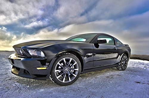 Zopix Poster Ford Mustang Auto Fahrzeug Muskel Wandbild - Premium (DIN A2, versch. Größen) - 190g Premium-Papierdruck - Garantierte Top-Qualität