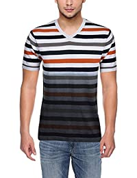 Armisto Men's Cotton T-Shirt With Dyed Effect (Multi-Coloured, X-Large)