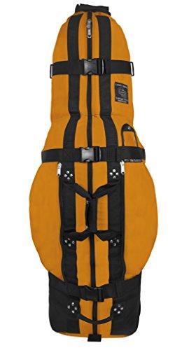 Club Glove The Last Bag Large Pro Golf Travelbag - Golf Travelcover mit Rollen (Gelb) (Cordura Nylon Dupont)