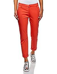 b1e1193f3a oodji Ultra Mujer Pantalones Chinos de Algodón