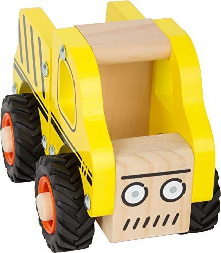 small foot 11096 Einsatzfahrzeug Baufahrzeug aus Holz, mit Ladefläche und gummierten Rädern, ab 18 Monaten - 3