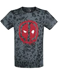 Marvel Men's Deadpool craquelé du Logo T-Shirt Vêtements pour homme