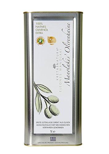 KretaNatura Huile d'Olive Grecque Vierge Extra - canister de 5-l / Millésime 2018