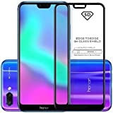 AONIR Tempered Glass 9H [ 5D-Black Full Glue Cover Edge ] Hardness Anti-Fingerprints Screen Guard Protector For Huawei Honor 8X