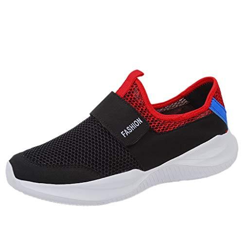 Jodier Zapatos Hombre Deporte de Baloncesto Sneakers de Malla para Correr Zapatillas Antideslizantes Zapatillas Running Hombre Mujer Zapatos Deporte Trail Fitness Sneakers Ligero Transpirable
