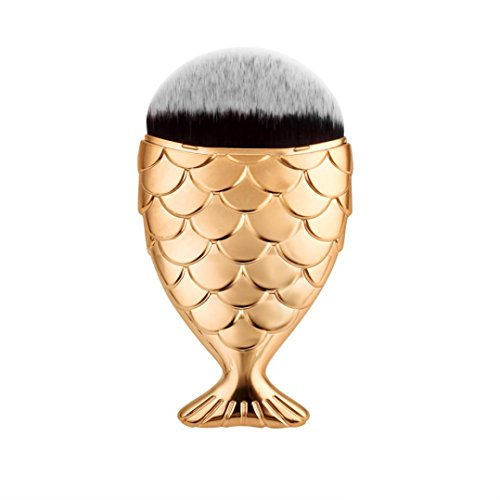LONUPAZZ fish scale makeup brush fishtail brush poudre blush maquillage outils maquillage professionnel Or rose