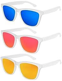 X-CRUZE® Gafas de sol Nerd polarizadas estilo Retro Vintage Unisex  Caballero Dama Hombre 23bb16c9587e
