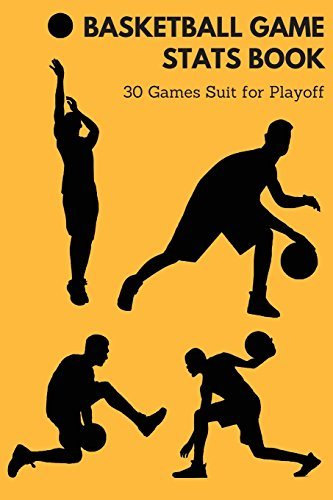 basketball game stats book: 30 GAMES SUIT FOR PLAYOFF, Small Size (6