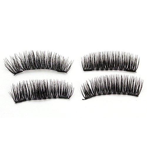 Wimpern 3D Wiederverwendbare Dual Magnetische Wimpern Magnetic Eyelashes (L) (Halloween Falsche Wimpern)