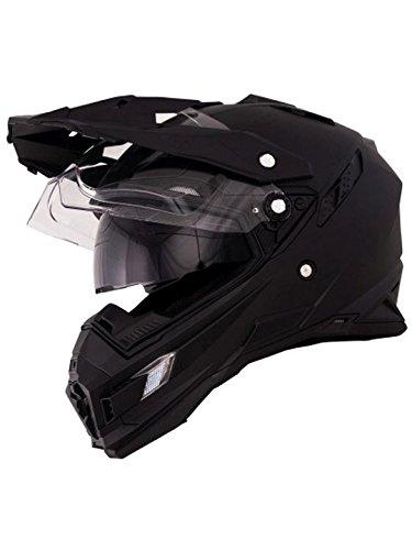 O'Neal Sierra Adventure Enduro Helm matt schwarz aerodynamischer Motorradhelm mit Sonnenblende, 0815-40, Größe Medium (57 – 58 cm) - 3