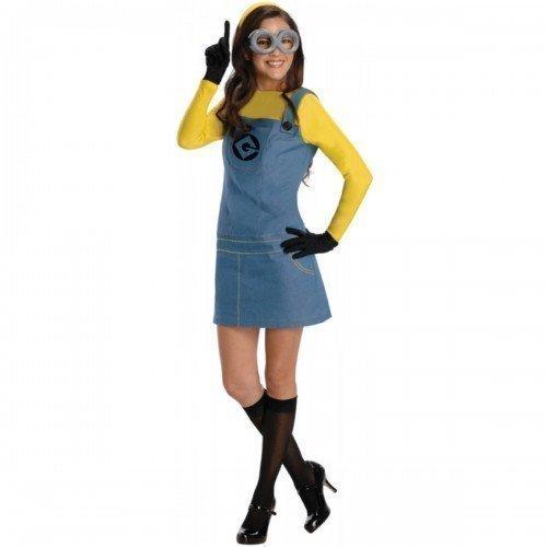 siert Ich Einfach Unverbesserlich Minion Halloween Kostüm Kleid Outfit Gr. 34-46 - Gelb, 6-8 (Minions Halloween-kostüme Für Erwachsene)