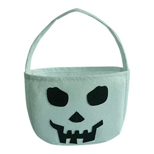 Halloween Süßigkeiten Tasche - Trick or Treat Süßigkeit Taschen,Kürbis weiße Geist Hexe Schwarze Katze Geschenk Tasche Süßigkeiten Tote Geschenktüte für Kinder Kleinkinder Jungen Mädchen