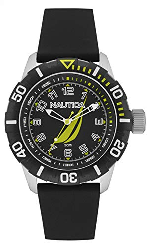 Nautica Reloj Analógico para Hombre de Cuarzo con Correa en Caucho NAI08513G