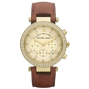 Reloj MICHAEL KORS MK2249 de cuarzo para mujer con correa de piel, color marrón de Michaël Kors