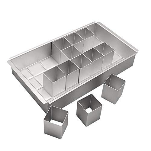 leegoal Moule à gâteau avec Chiffres de 0 à 9 Chiffres réglables pour gâteau d'anniversaire en Alliage d'aluminium