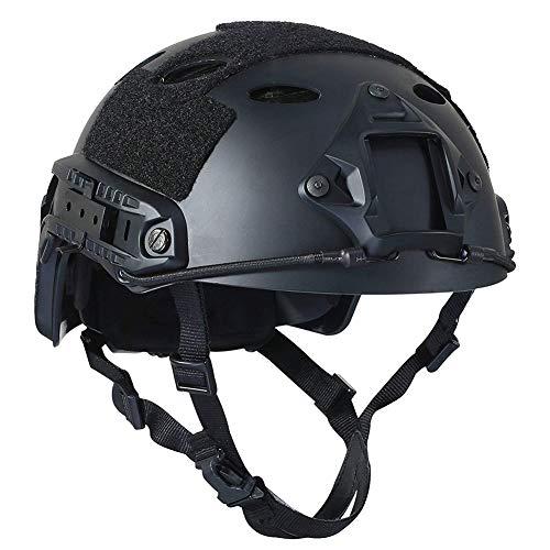 NICEWL Tactical Adjustable Fast Helm-ABS Helm Mit Seitenschienen NVG Mount, Schnelle Ballistische Airsoft Paintball Jagd Schießen Outdoor Camping Sport -