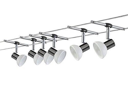 Seil-Set, Halogen, 6x35W, Sheela 230V/12V, GU5,3, Schwarz/Opal Komplett-Set, Halogen 12V, inklusive Leuchtmittel