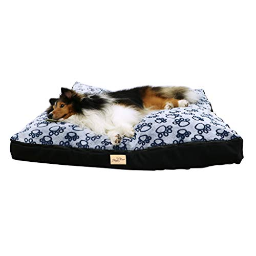 WISFORBEST Five-sided Waterproof Dog Bed Large Washable Mat for Variety Size Dogs With Removable Washable Cover
