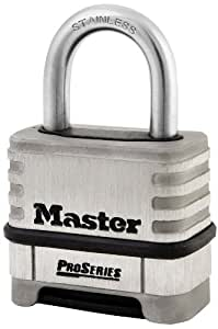 Master Lock 1174D Resettable Stainless Steel Combination Padlock