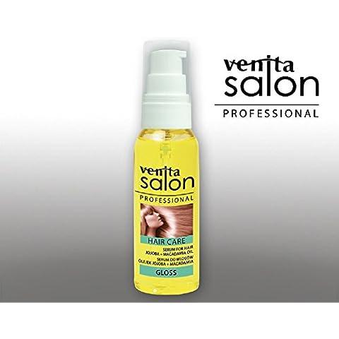 Venita Gloss cura dei capelli SIERO per capelli con olio di Argan e olio di (Gloss Olio)