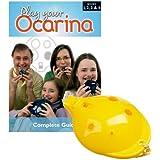 Englische Okarina GELB und COMPLETE Play your Ocarina Books 1, 2, 3 & 4, als Set