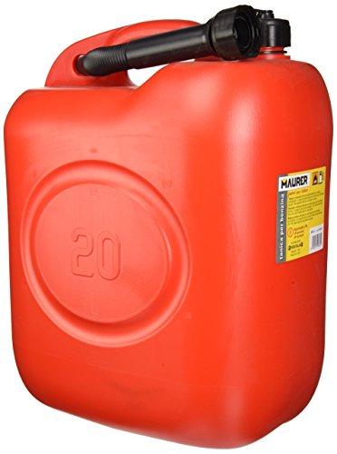 Maurer 2325590 - Gasolina tanque plástico Homologado, 20 l, color rojo