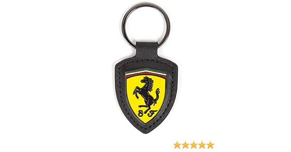 Scuderia Ferrari Offizielles 2018 Logo Schlüsselanhänger Metall Schild Leder In Geschenkbox Bekleidung