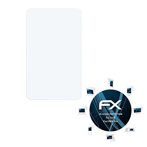 atFolix Schutzfolie kompatibel mit Xoro Pad 8W4 Pro Folie, ultraklare FX Bildschirmschutzfolie (2X)