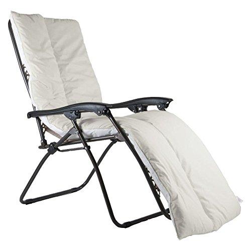 Coussin luxueux UK Care Direct pour chaise longue - Étanche - Pour terrasse, jardin - Fabriqué au Royaume-Uni Devon Cream